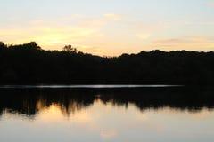 Sunset over Mapperley Reservoir Stock Image