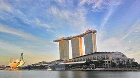 Sunset Over Marina Bay Sands, Singapore Royalty Free Stock Images