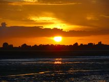 Sunset Over The Marsh Stock Images