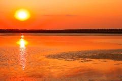 Sunset over the marsh Stock Photos