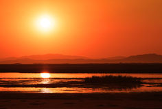 Sunset over marsh Royalty Free Stock Images