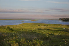 Sunset over marsh coastline at Eastham, MA Cape Cod Stock Photos