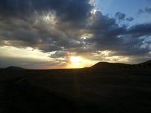 Sunset. Over the Masai Mara Reserve stock image