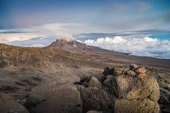 Sunset over Mawenzi Peak, Mount Kilimanjaro, Tanzania, Africa Stock Image