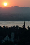 Sunset over Mawlamyine, Myanmar Stock Photo