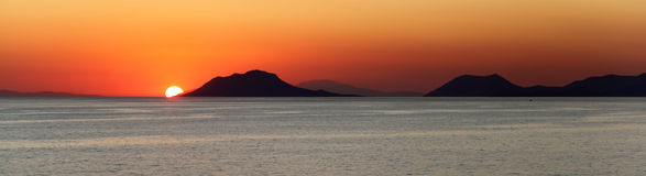 Sunset over the Mediterranean Islands Royalty Free Stock Photo