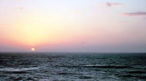 Sunset over Mediterranean sea Royalty Free Stock Photo