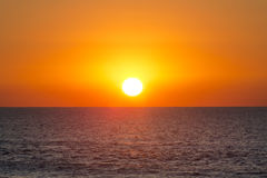 Sunset over the Mediterranean sea Royalty Free Stock Photo
