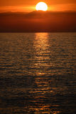Sunset over the mediterranean sea Stock Image