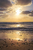 Sunset over the Mediterranean Sea, Israel Royalty Free Stock Photography
