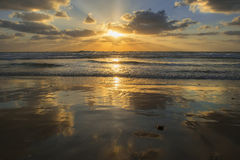 Sunset over the Mediterranean Sea, Israel Stock Photos