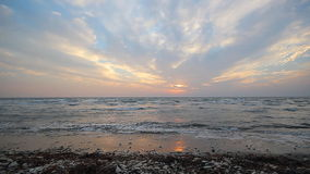 Sunset over the Mediterranean Sea stock video footage