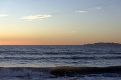 Sunset over the mediterranean sea. Royalty Free Stock Photos