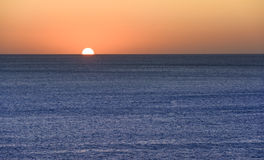 Sunset over the mediterranean sea Royalty Free Stock Images