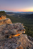 Sunset over Megalong Valley Blue Mountains Royalty Free Stock Photography