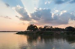 Sunset over the Mekong river Stock Photos