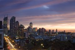 Sunset Over Melbourne, Australia Stock Photography