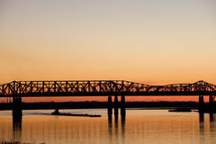 Sunset over Mississippi Royalty Free Stock Photo