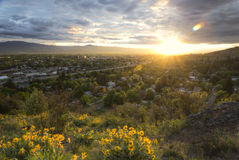 Sunset over Missoula Montana Royalty Free Stock Image