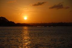 Sunset over Mombasa Royalty Free Stock Photo