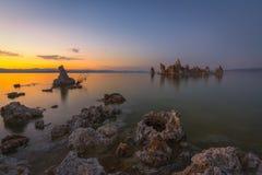 Sunset over Mono Lake in South Tufa Area Royalty Free Stock Image