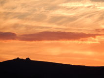 Sunset over the moors Royalty Free Stock Images