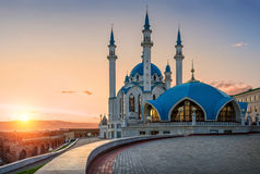 Sunset over mosque Stock Photography