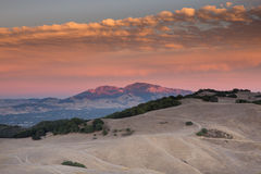 Sunset over Mount Diablo from Briones Regional Park, Martinez, CA Stock Photography