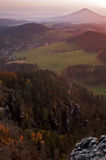 Sunset Over The Mountain Stock Photography