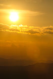 Sunset Over Mountain Royalty Free Stock Photo