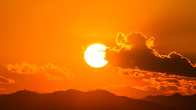 Sunset over mountain Royalty Free Stock Image