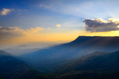 Sunset over mountain Royalty Free Stock Images