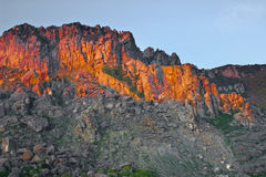 Sunset over mountain range Stock Photography