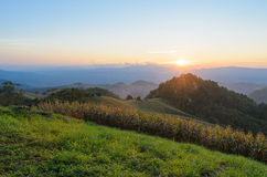 Sunset over mountain in sri nan national park thailand Stock Photo