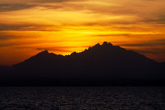 Sunset over a Mountains Royalty Free Stock Photos