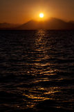 Sunset over a Mountains Stock Photos