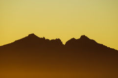 Sunset over the Mountains Royalty Free Stock Photo