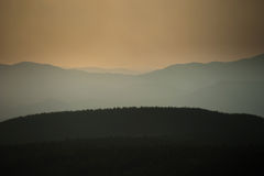 Sunset over mountains Sikhote-alin Royalty Free Stock Photos