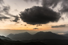 Sunset over the mountains, Varese Royalty Free Stock Photos
