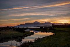 Sunset over the Mourne Mountains Royalty Free Stock Photos