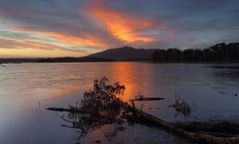 Sunset over Mt Gulaga NSW Australia Royalty Free Stock Image