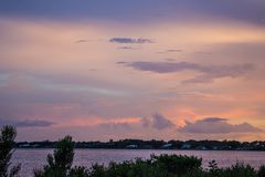 Sunset Over Myakka River Royalty Free Stock Image