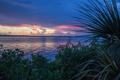 Sunset Over Myakka River Stock Images