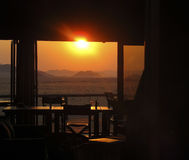 Sunset over the Namib-Nauktuft National Park Stock Image