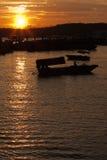 Sunset over nanwan port. (weizhou island Stock Image