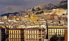 Sunset over Naples. A nice and soft sunset over the city of Naples Stock Image