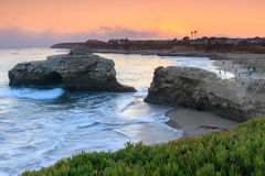 Sunset over Natural Bridges State Beach. Natural Bridges State Beach in Santa Cruz, California, USA Royalty Free Stock Photography