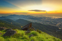 Sunset over new territories in hong kong Stock Photography