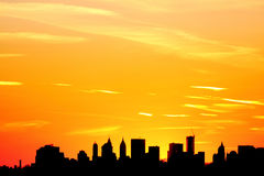 Sunset over New York City Royalty Free Stock Photography