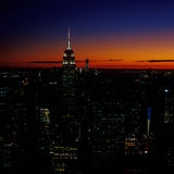 Sunset over a New York City. Royalty Free Stock Photos
